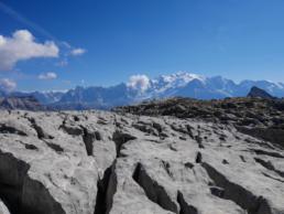 Mont Blanc vu des Grandes Platières